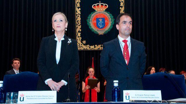 Cristina Cifuentes, en la toma de posesión de Javier Ramos como rector de la URJC