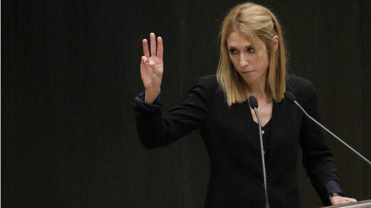 Archivo: Silvia Saavedra interviene el el Pleno del Ayuntamiento de Madrid.