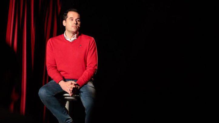 Ignacio Aguado en un acto de concienciación sobre el autismo