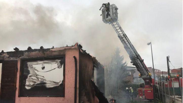 Han intervenido ocho dotaciones de bomberos