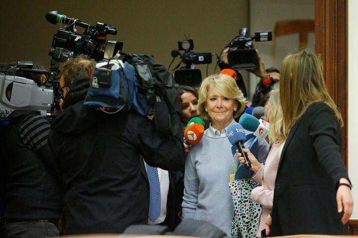 Aguirre: 'No hay ninguna sentencia que diga que alguien del PP ha robado'