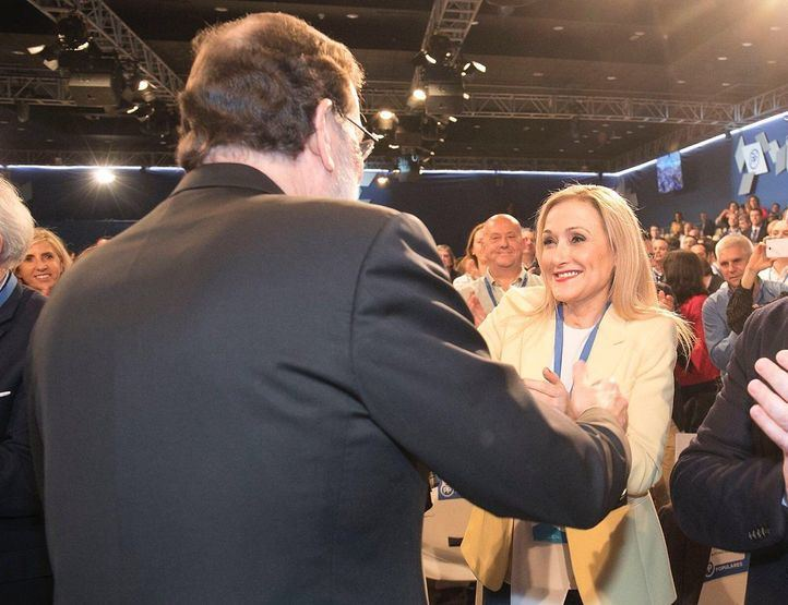 Cristina Cifuentes junto a Mariano Rajoy en la Convención Nacional del Partido Popular