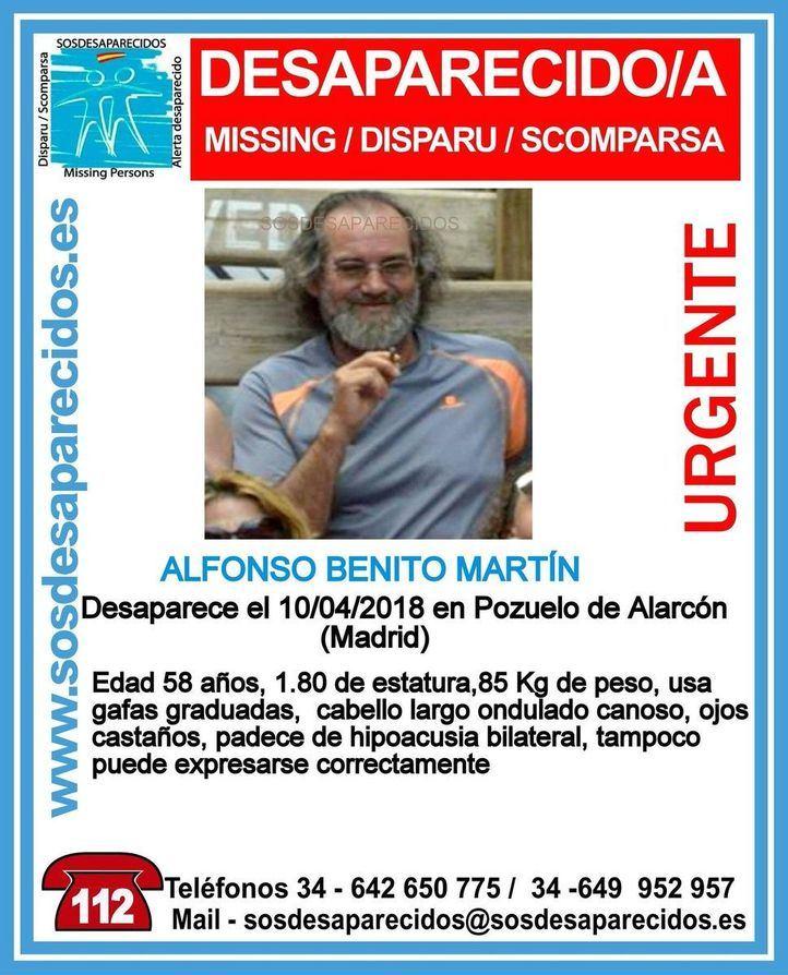 Un hombre de 58 años, desaparecido en Pozuelo
