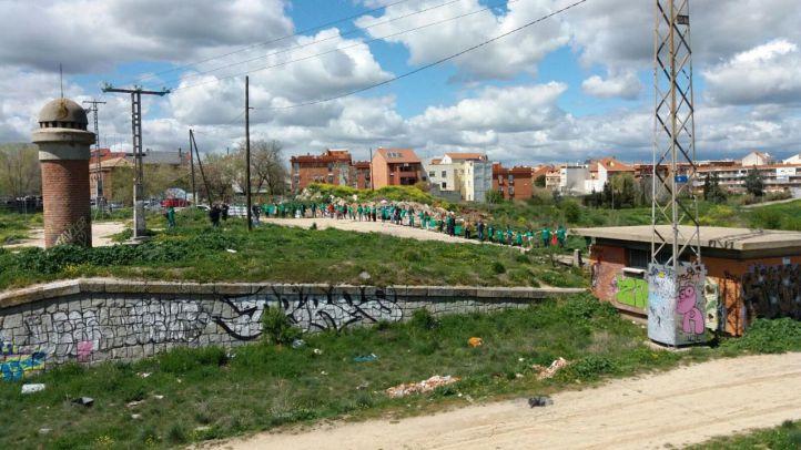 Una cadena humana por la aprobación de Madrid Nuevo Norte