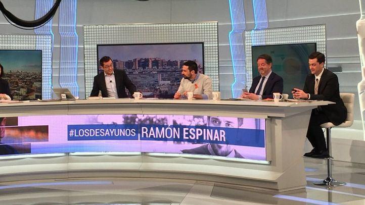 Ramón Espinar, esta mañana