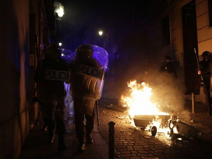 Disturbios en Lavapiés tras la muerte de un inmigrante