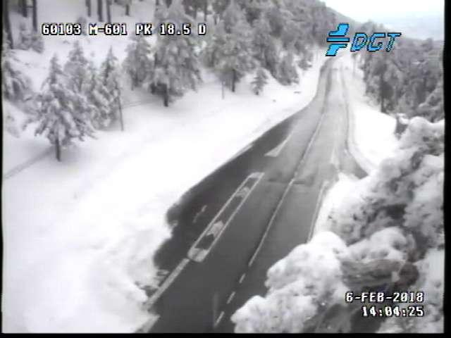 La nieve ha obligado a cortar algunas carreteras