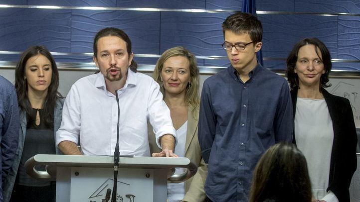 Montero, Iglesias, Errejón  y Bescansa.