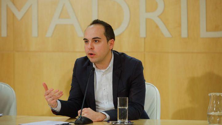 José Manuel Calvo, concejal del área de Desarrollo Urbano Sostenible del Ayuntamiento de Madrid, en rueda de prensa.