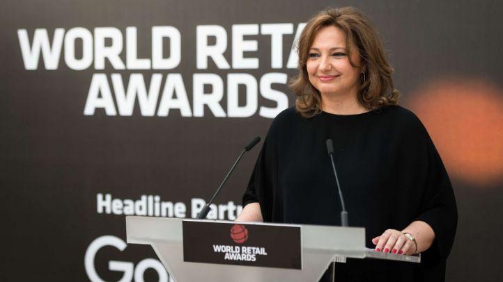 Marta Álvarez entrega el Premio Isidoro Álvarez del World Retail Congress a Jorge Pont y Gilbert Harrison