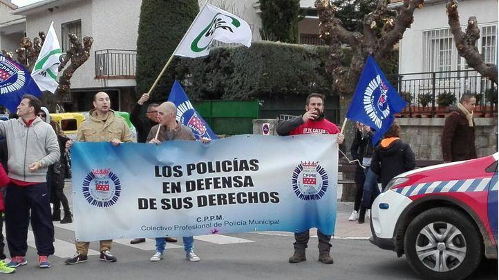 La Policía Local se manifiesta en Galapagar.