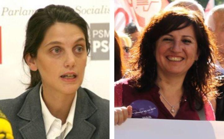 Pilar Sánchez Acera y Elena Sevillano, diputadas de la Asamblea de Madrid