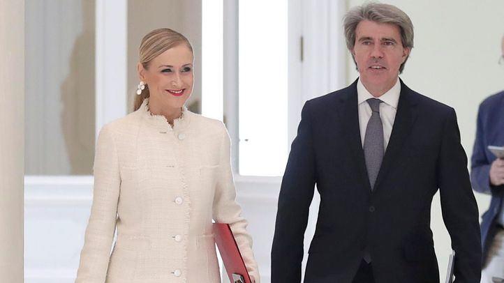 Cristina Cifuentes y Ángel Garrido, a su llegada al Consejo de Gobierno.
