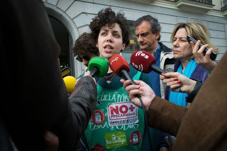 La Plataforma Regional por la Escuela Pública de Madrid presentó las protestas este lunes ante la Consejería de Educación.