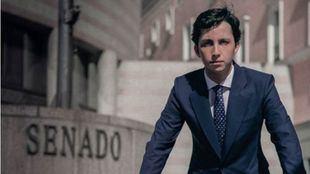 Imagen de la candidatura de Francisco Nicolás Gómez, 'El pequeño Nicolás', Iglesias al Senado.