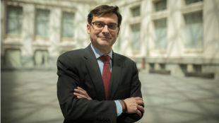 El portavoz del PP en la comisión de BiciMAD, este martes en el Palacio de Cibeles.
