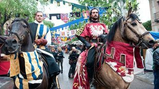 Regresan los duelos de caballeros en la Feria Medieval El Álamo