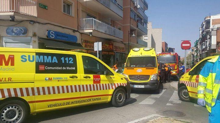 La ambulancia del SUMMA 112, en el lugar de los hechos.