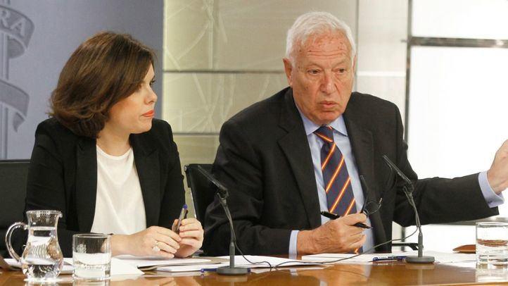Soraya Sáenz de Santamaría y José Manuel García-Margallo.