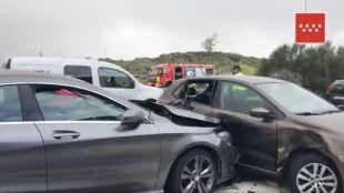 Once heridos en varios accidentes de tráfico en cadena
