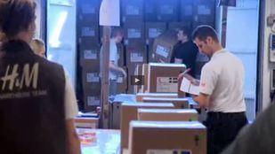 Paros este lunes en el centro logístico de H&M en Torrejón
