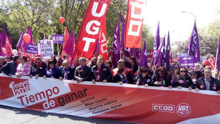 Manifestación por el Día Internacional de los Trabajadores.