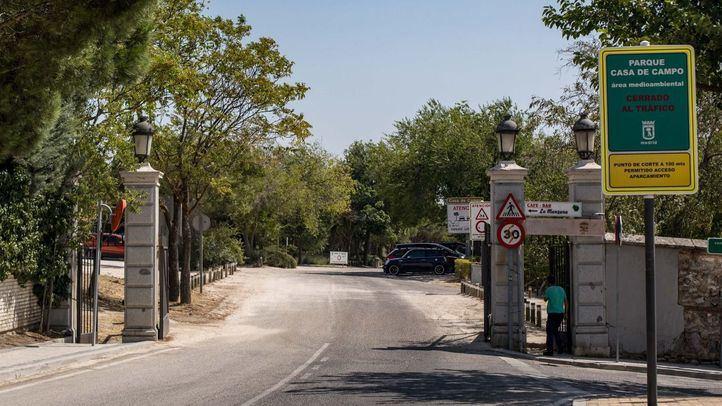 Heridos dos ciclistas tras chocar en Casa de Campo