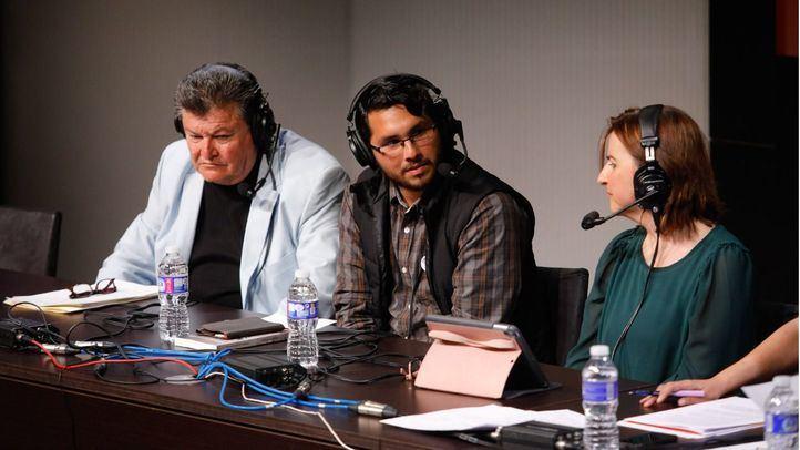 Entrevista a varios periodistas de diferentes países donde la libertad de prensa está en cuestión, como México, de donde vienen Francisco Castellanos y Carlos Juárez.