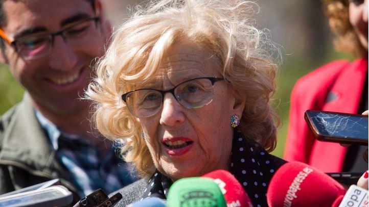 La alcaldesa de Madrid, Manuela Carmena, este viernes.