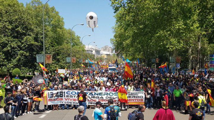 Manifestación de Jusapol por la equiparación salarial