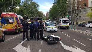 Accidente de tráfico en la calle María de Molina