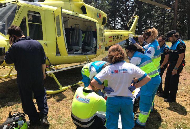 Un ciclista, en estado grave por un ataque de abejas en Patones