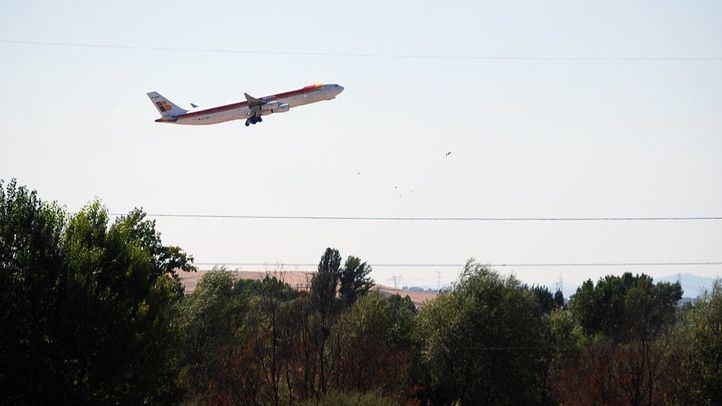 Avión despegando de Barajas.