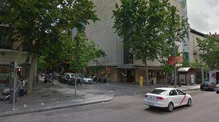 Calle Serrano con Ayala, lugar donde se ha producido el suceso.
