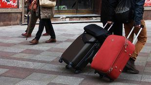 Turistas en Madrid.