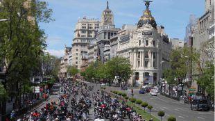 Más de 1.500 Harleys recorren las calles de Madrid