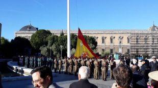 Así ha sido el izado de bandera en Colón