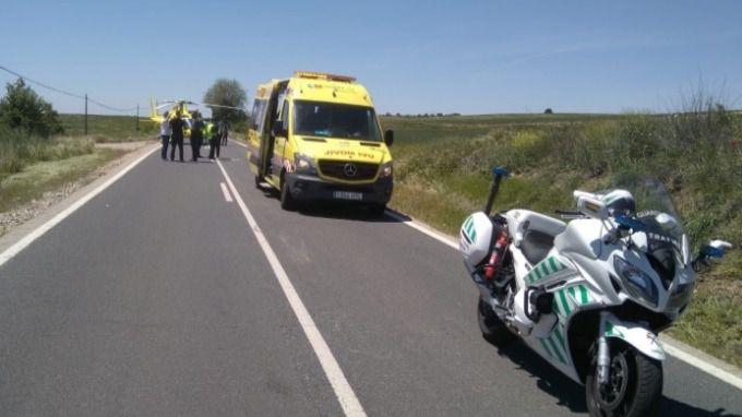 Dos motoristas resultan heridos tras una colisión en Villalbilla