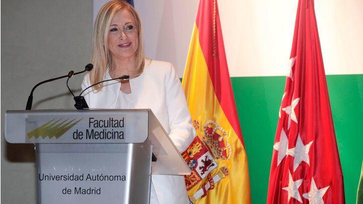 Cristina Cifuentes, en un acto en la Autónoma.