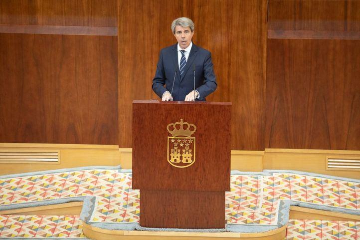 Garrido, este jueves, en su discurso de investidura.
