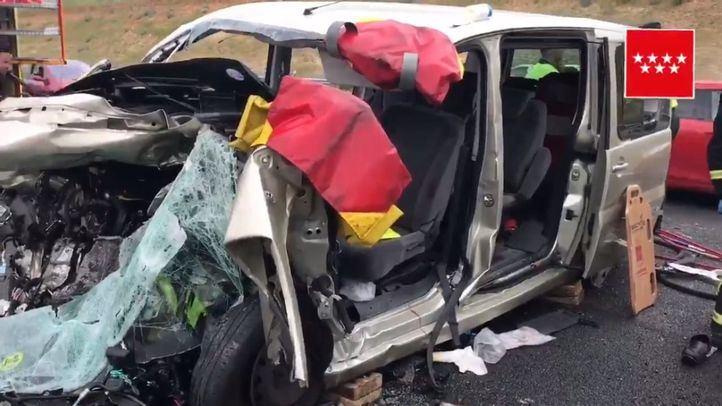 Una muerta y tres heridos por un choque en Paracuellos