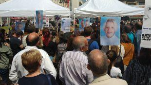 Concentración en recuerdo de Sandra Palo en la Puerta del Sol