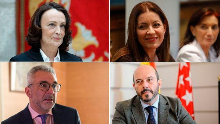 Yolanda Ibarrola, María Dolores Moreno, Carlos Izquierdo y Pedro Rollán