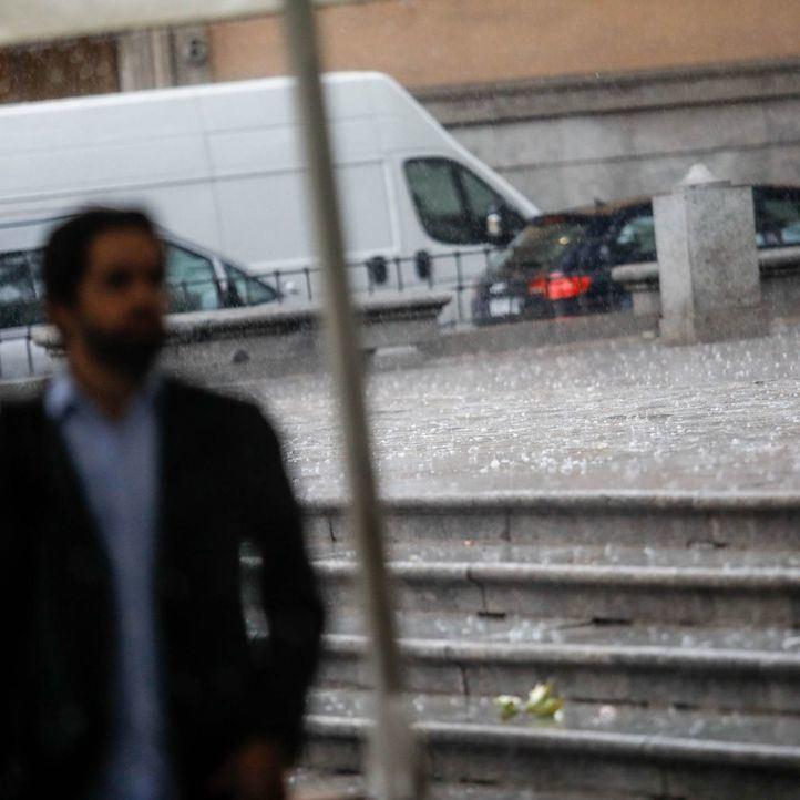 Tormenta en Madrid, en una imagen de archivo.