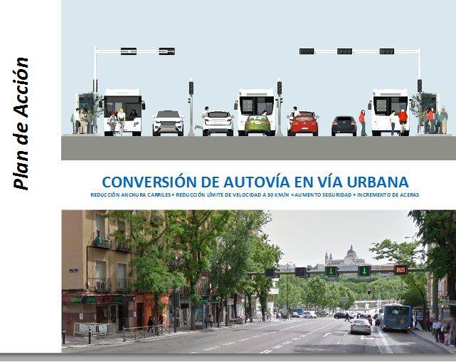 El Ayuntamiento comienza la conversión de parte de la A-5 en vía urbana
