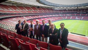 Presentación de la X Copa Comunicación y Empresas de Golf en el Wanda Metropolitano.