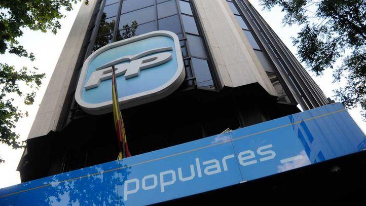 Sede del Partido Popular PP en la calle de Génova