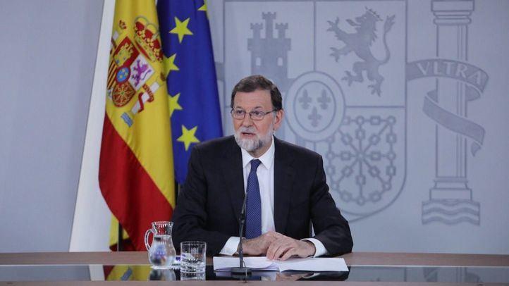 Mariano Rajoy comparece ante los medios para valorar la moción de censura anunciada por Pedro Sánchez tras conocerse la sentencia de la Gürtel.