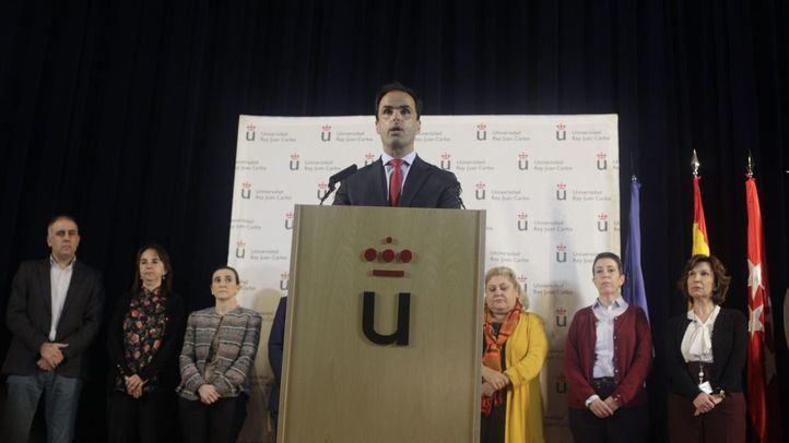 El rector de la URJC rehúye las polémicas y se limita a comunicar la investigación sobre Casado