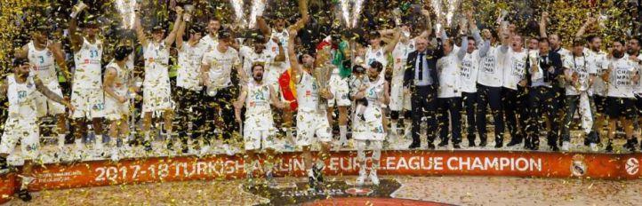 Celebración del Real Madrid en la Champions League.